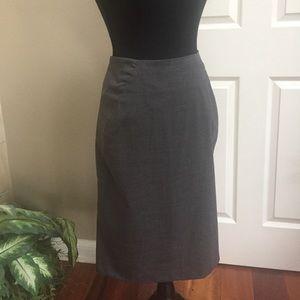 Kenar Gray Fine Wool Pencil Skirt Size 6
